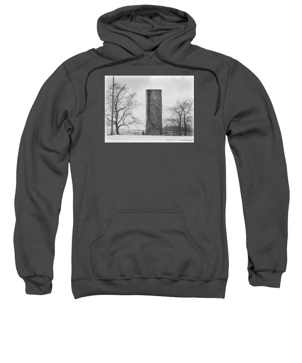 Silo Sweatshirt featuring the photograph All That Remains by Scott Ward