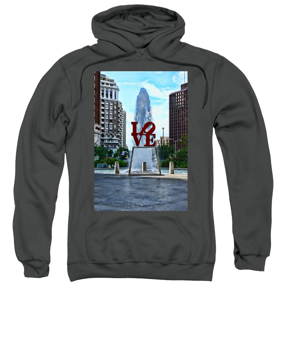 Love Park Sweatshirt featuring the photograph All You Need Is Love by Paul Ward