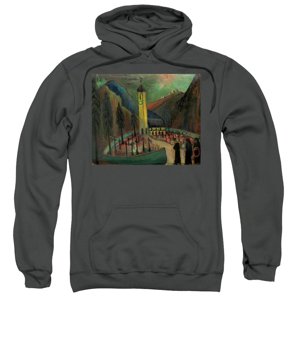Werefkin Sweatshirt featuring the painting Allerseelen by MotionAge Designs