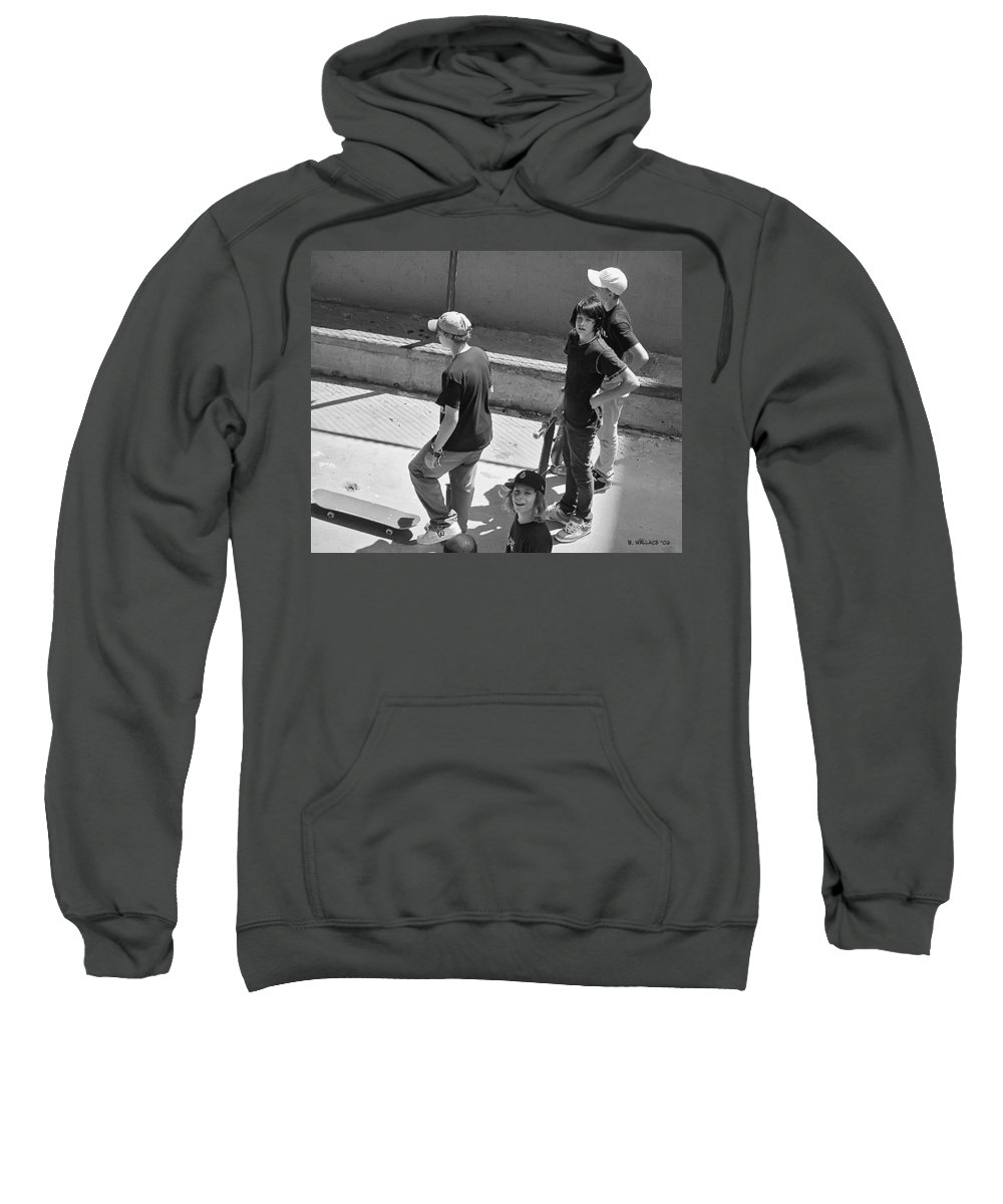 2d Sweatshirt featuring the photograph Alley Cats by Brian Wallace