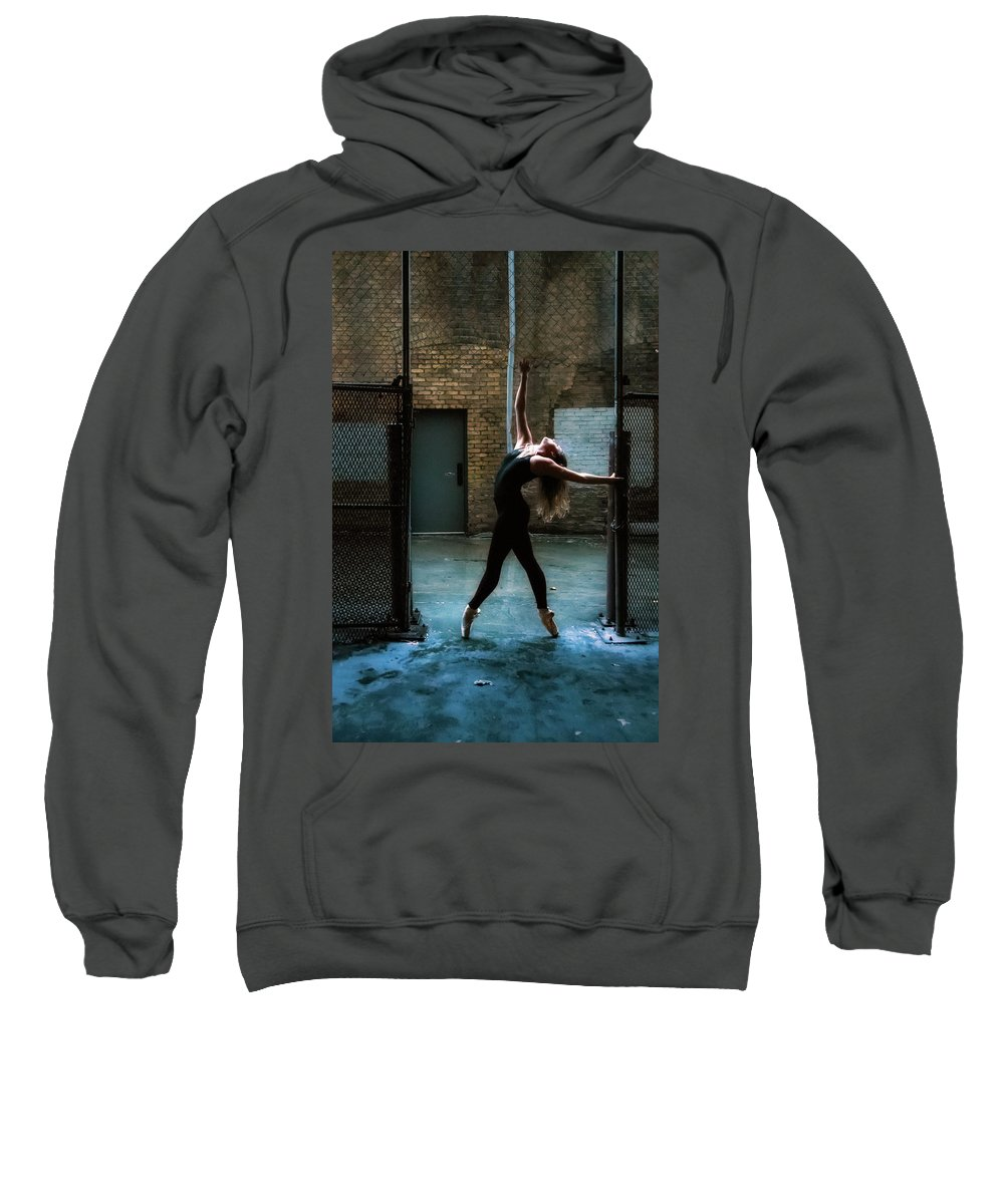 Dance Sweatshirt featuring the photograph Alley Dance by Dave Koch