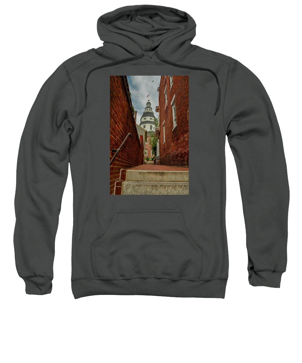 Alley Sweatshirt featuring the photograph Alley View by Robert Coffey