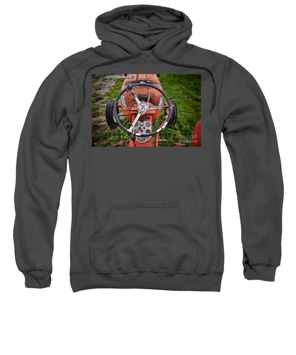 Allis Chalmers Sweatshirt featuring the photograph Allis Chalmers As You Sit by David Arment