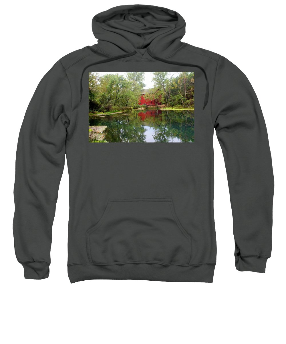 Mill Sweatshirt featuring the photograph Allsy Sprng Mill by Marty Koch