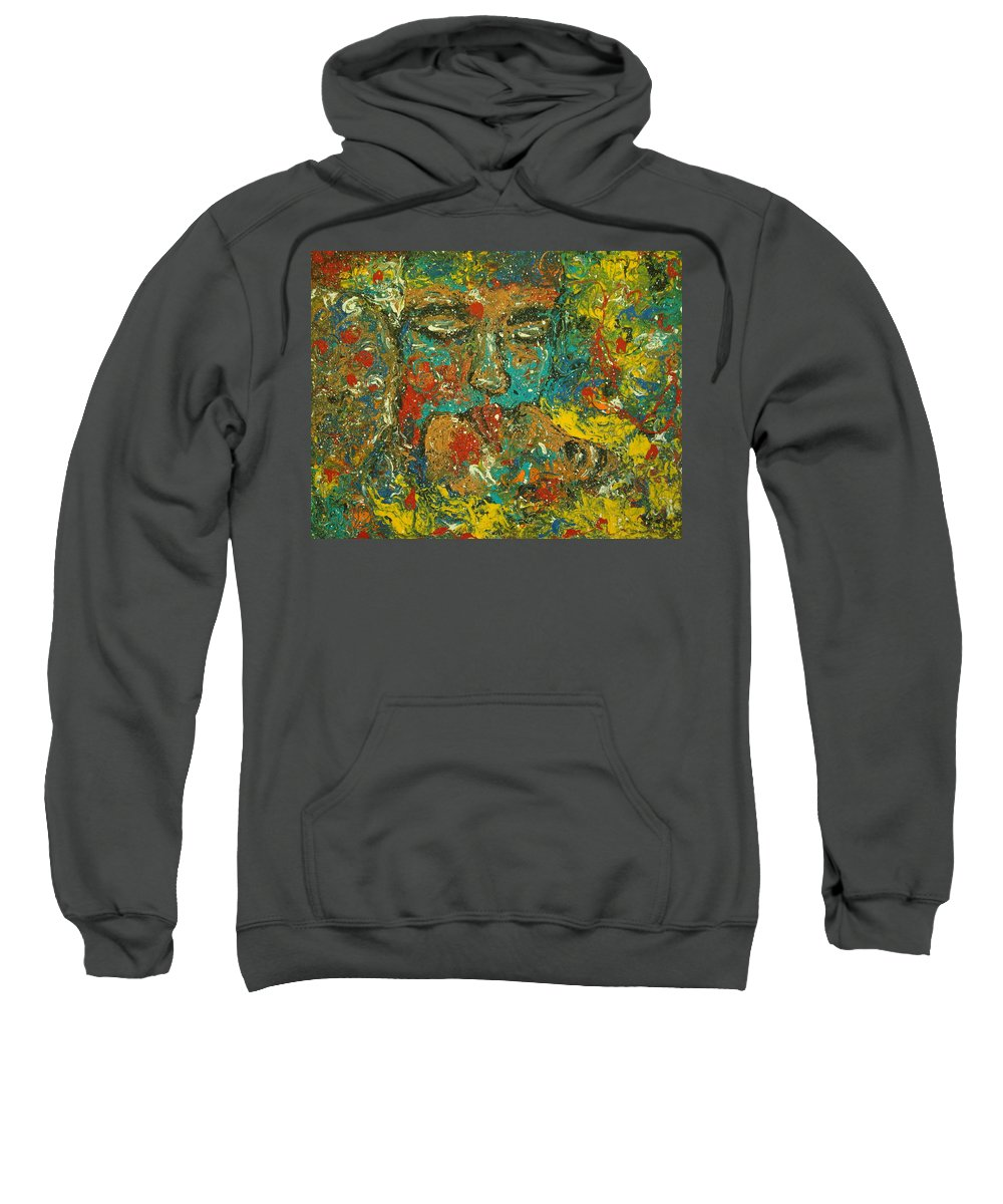 Romantic Sweatshirt featuring the painting Allure Of Love by Natalie Holland