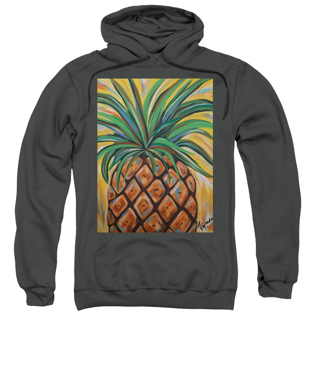 Aloha Sweatshirt featuring the painting Aloha by Angela Miles Varnado