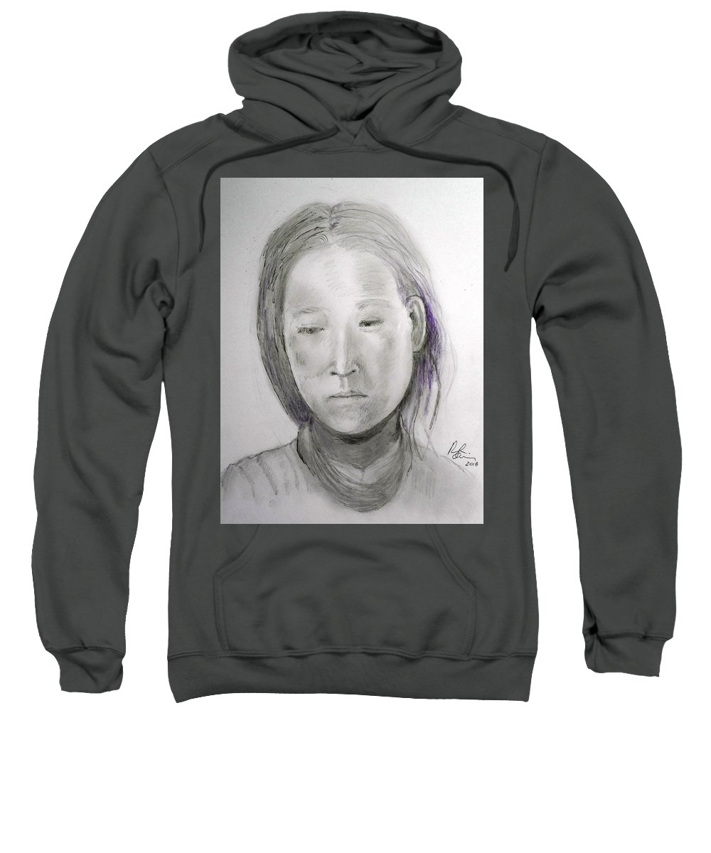 Alone Sweatshirt featuring the painting Alone Again Two by Ronald L Oliver
