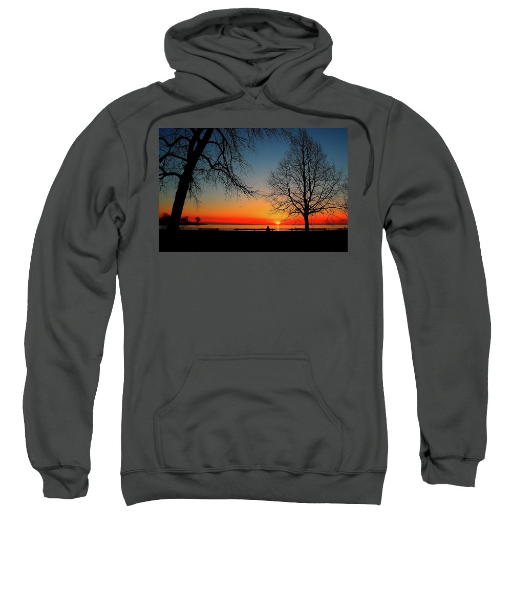 Trees Sweatshirt featuring the photograph Alone by Jeff Kudla