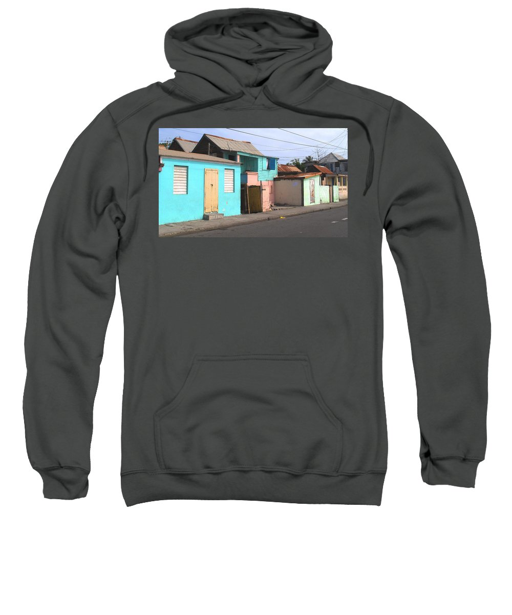 St Kitts Sweatshirt featuring the photograph Along Bay Road by Ian MacDonald