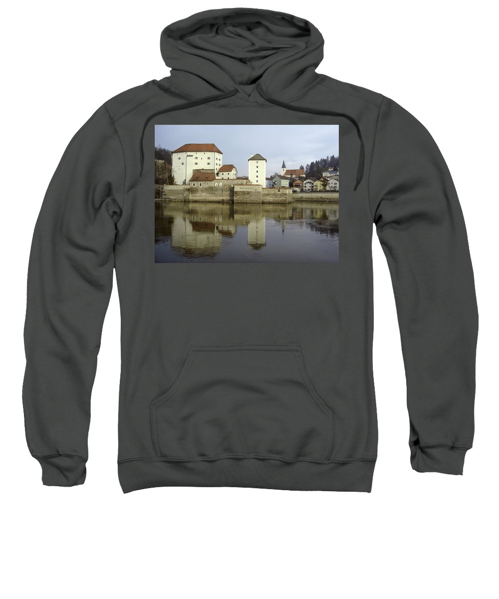 River Sweatshirt featuring the photograph Along The Danube by Mary Rogers