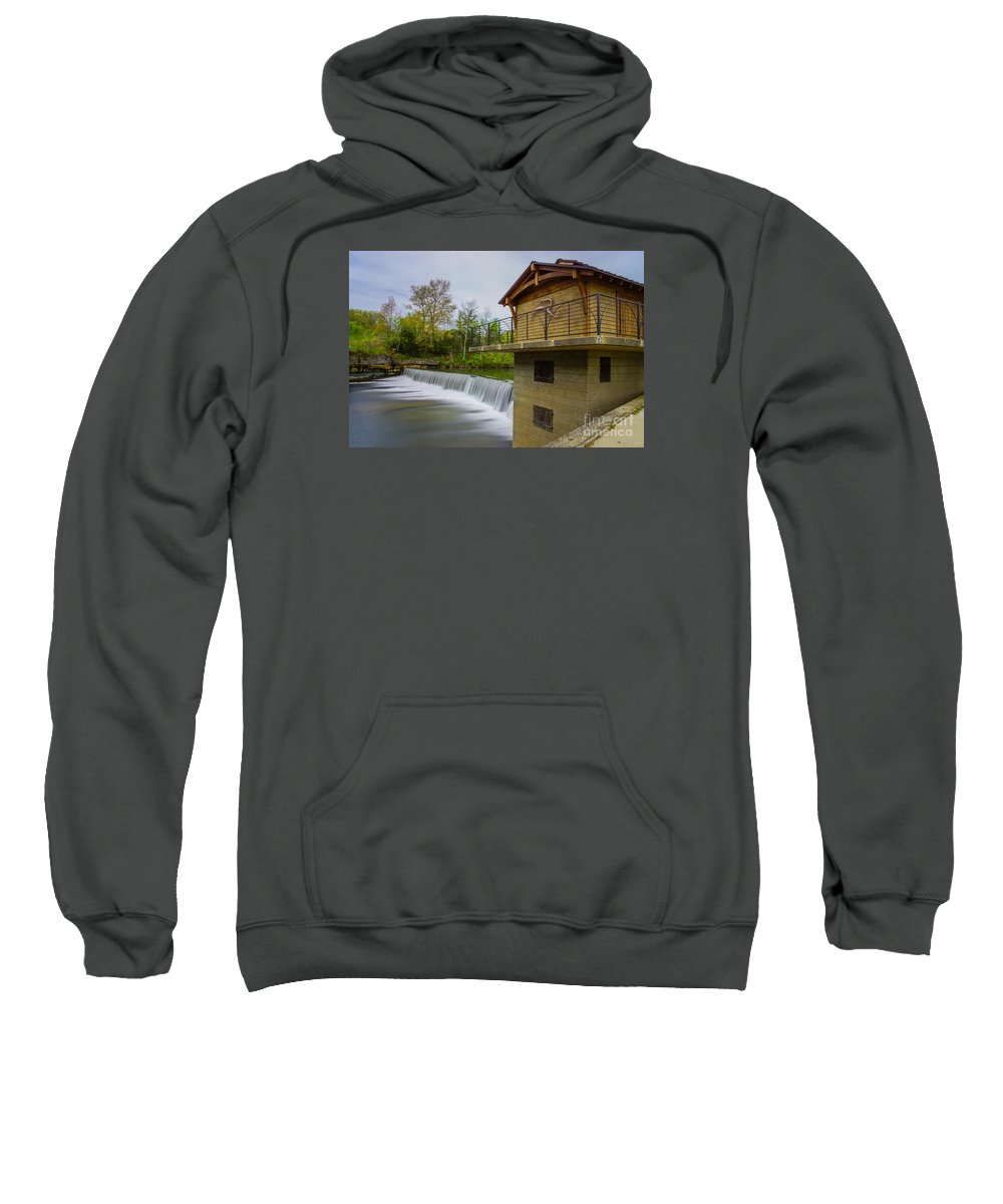 America Sweatshirt featuring the photograph Along The Finley by Jennifer White