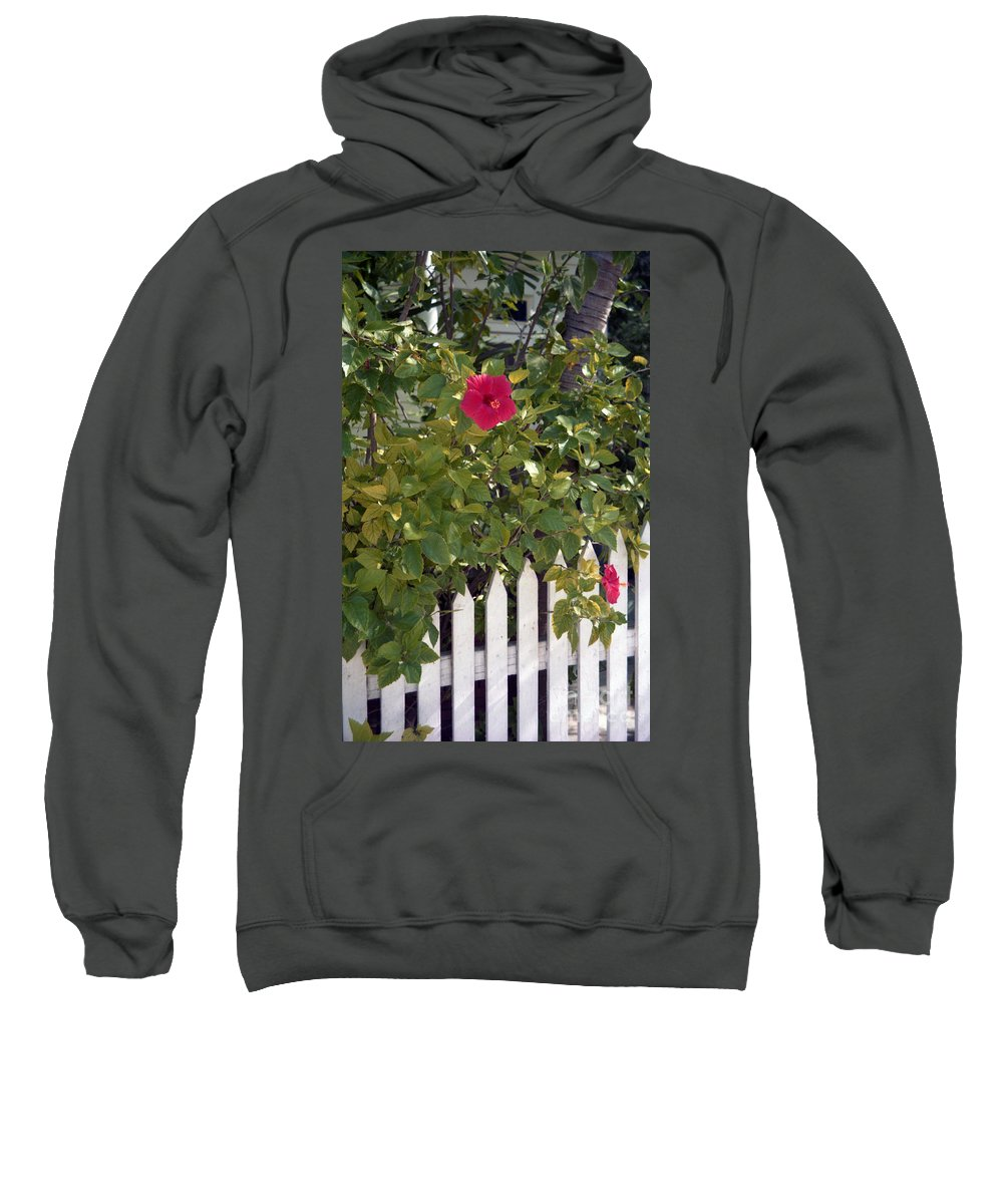 Azelea Sweatshirt featuring the photograph Along The Picket Fence by Richard Rizzo