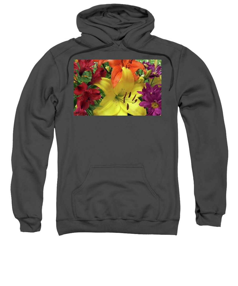 Flowers Sweatshirt featuring the photograph Alphabet Of Angels by Marie Hicks