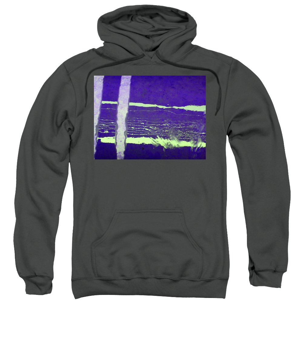 Abstract Sweatshirt featuring the digital art Alternate Reality 19 by Lenore Senior