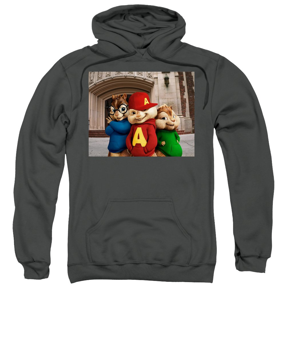 Alvin And The Chipmunks Sweatshirt featuring the digital art Alvin And The Chipmunks by Bert Mailer
