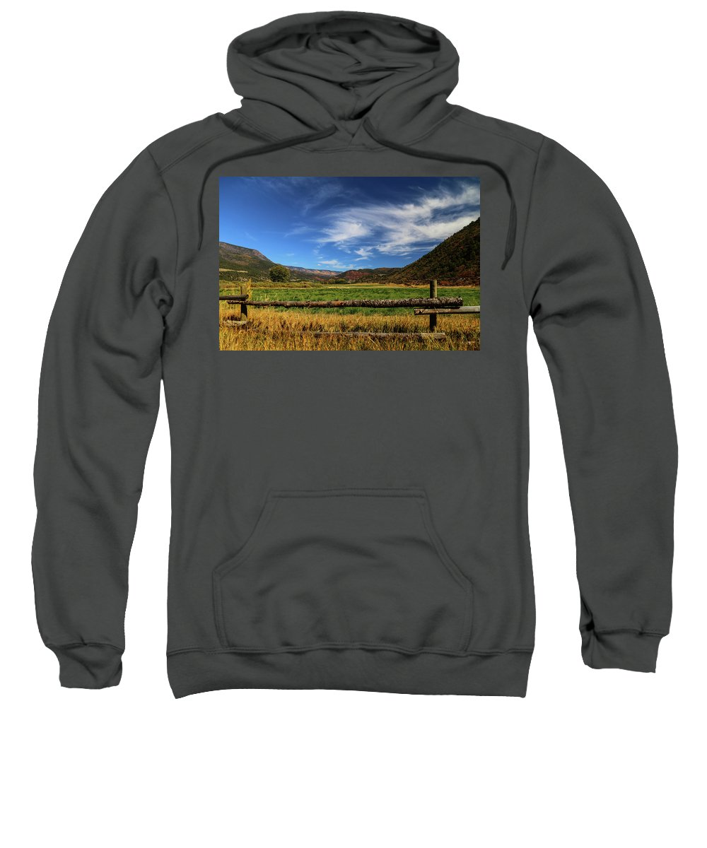 Aspen Sweatshirt featuring the photograph Always Greener by Lisa Scammell