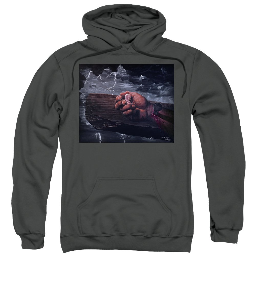Spiritual Sweatshirt featuring the painting Amazing Grace by Bill Stephens