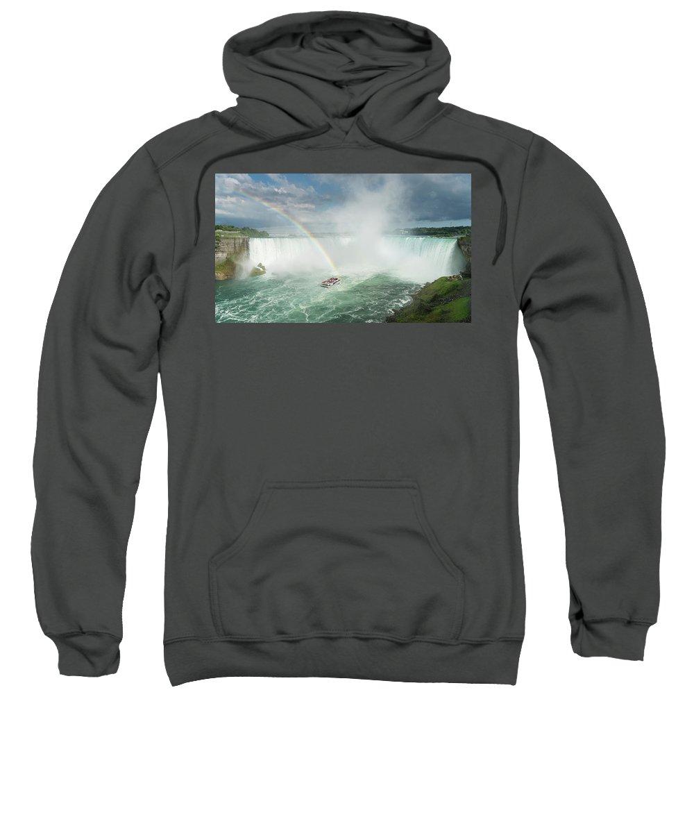 Boat Sweatshirt featuring the photograph Horseshoe Waterfall At Niagara Falls by Steven Heap