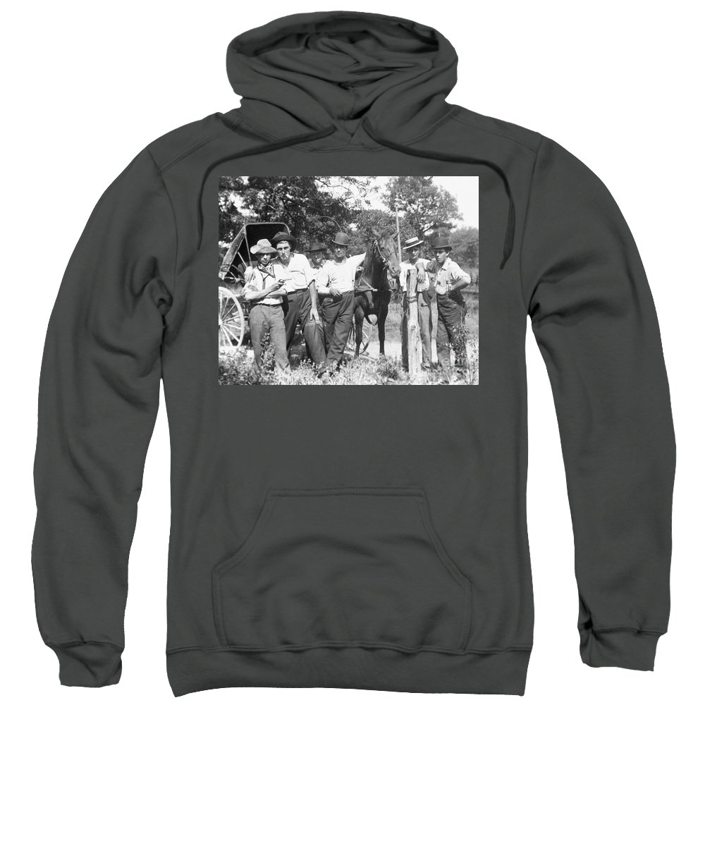 1900 Sweatshirt featuring the photograph American Gang, C1900 by Granger