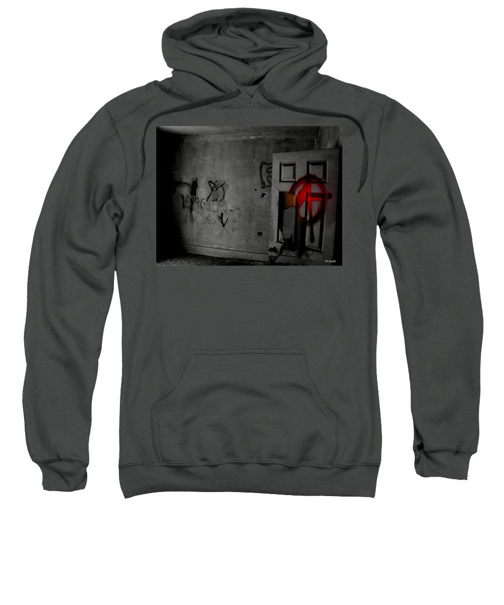 American Graffiti 6 Sweatshirt featuring the photograph American Graffiti 6 - Virgin Sacrifice by Ed Smith