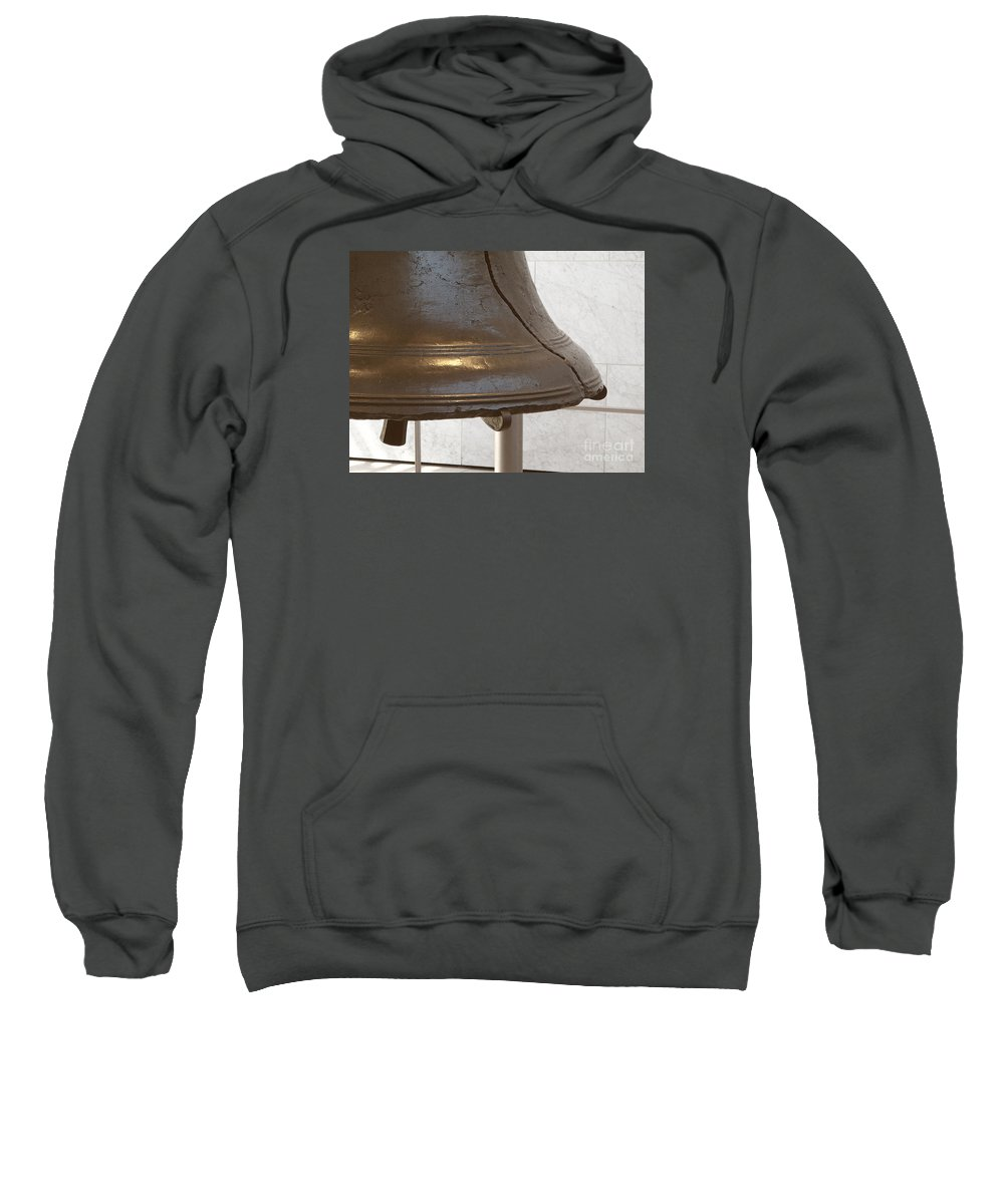 Liberty Bell Sweatshirt featuring the photograph American Icon by Ann Horn