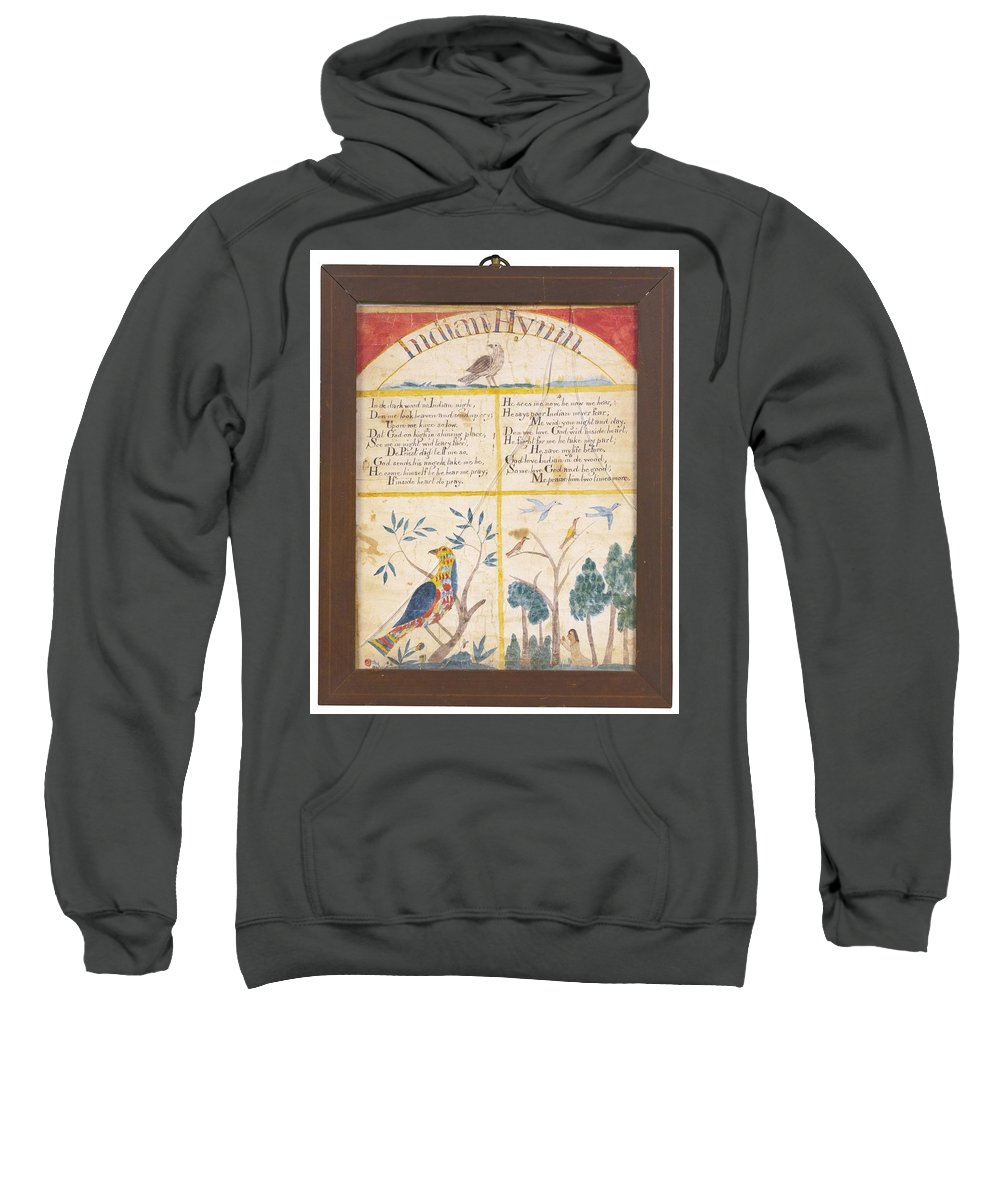 American School 19th Century Indian Hymn Sweatshirt featuring the painting American School by Eastern Accents
