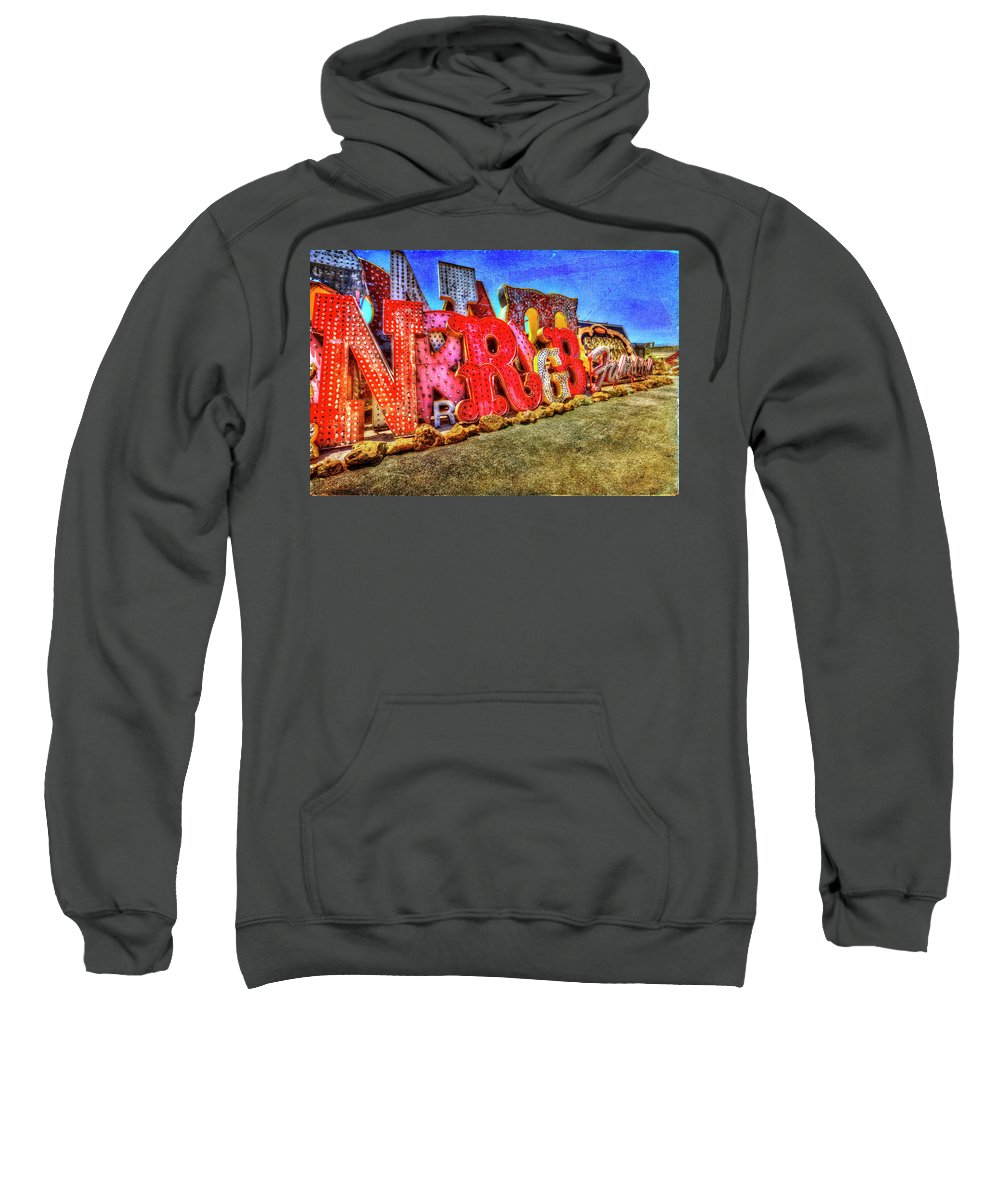 Sweatshirt featuring the photograph American Textures #32 by David Palmer