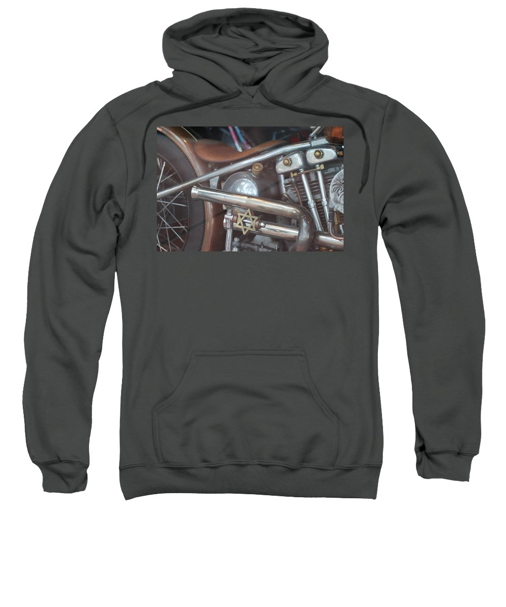 Motorcycle Sweatshirt featuring the photograph Ami's Bike by Rob Hans