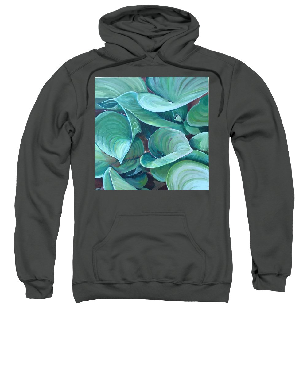 Sweatshirt featuring the painting Among The Leaves by Rachel Sunnell