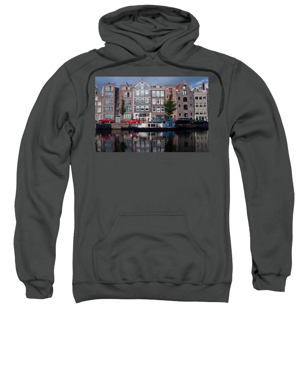 Amsterdam Sweatshirt featuring the photograph Amsterdam Canal by Thomas Marchessault