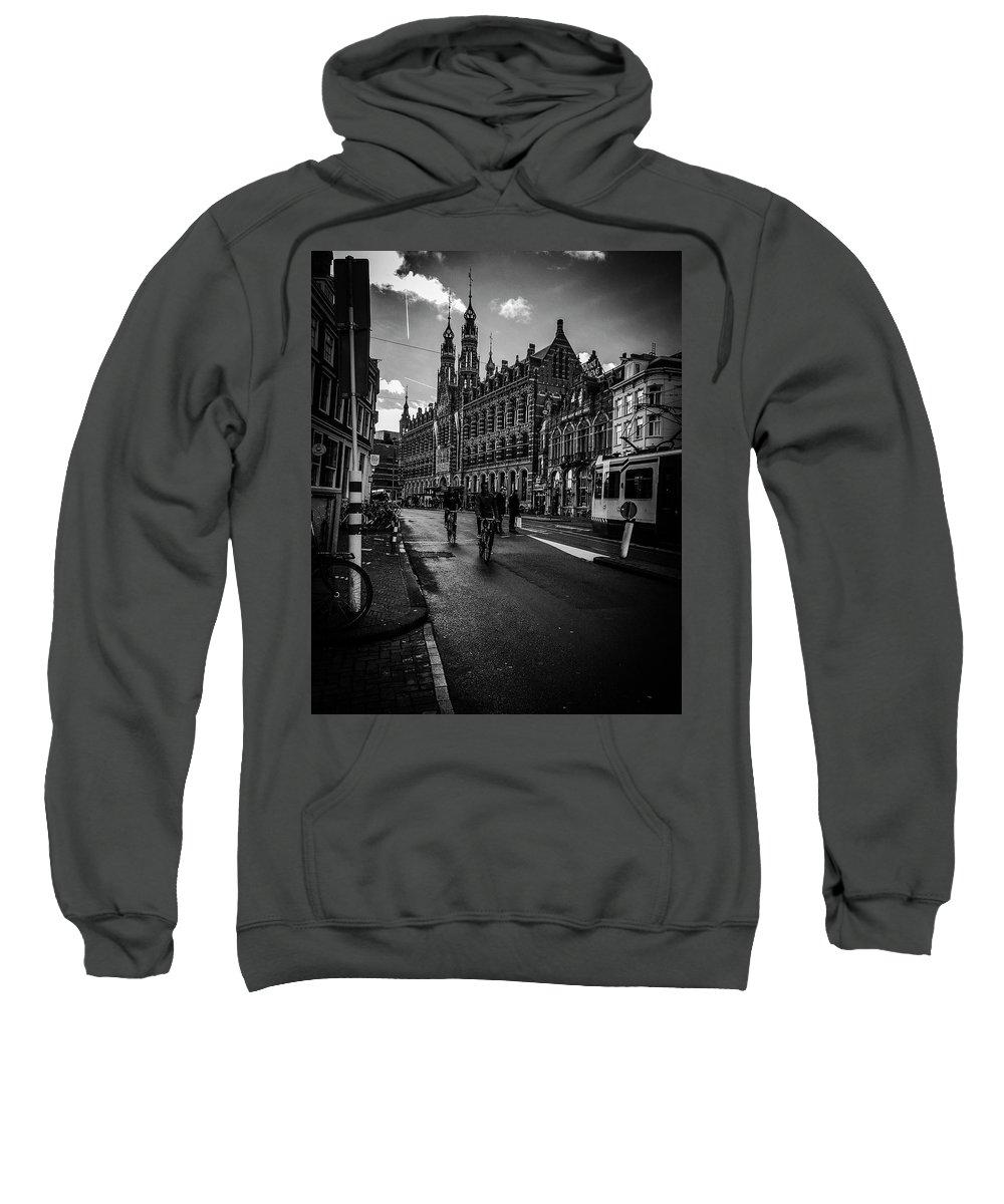 Amsterdam Sweatshirt featuring the photograph Amsterdam Street by Mickey Stellavato