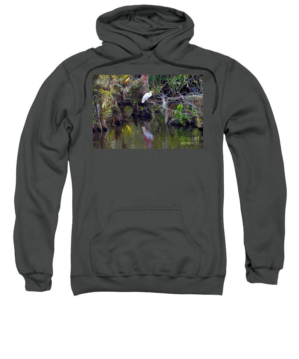 Everglades National Park Florida Sweatshirt featuring the photograph An Egrets World by David Lee Thompson