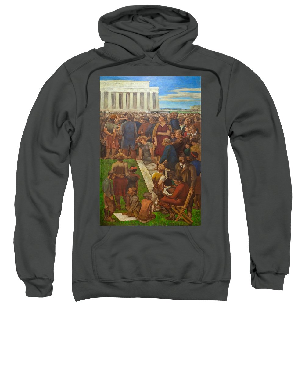 Painting Sweatshirt featuring the painting An Incident In Contemporary American Life by Mountain Dreams