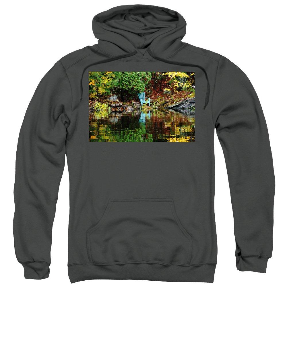 Wolseley Bay Sweatshirt featuring the photograph An Invitation by Debbie Oppermann