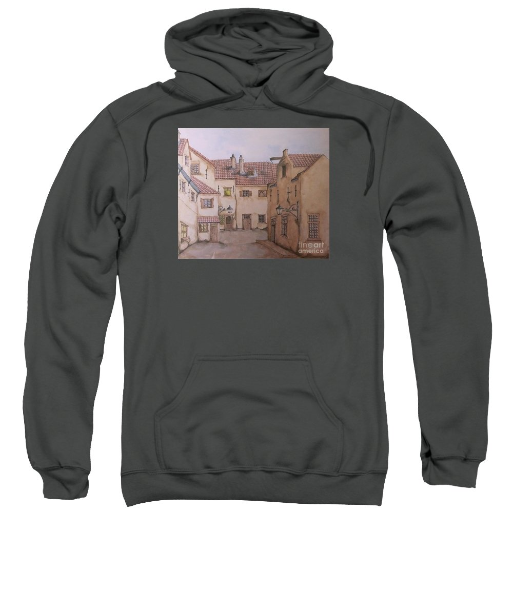 Charles John Huffam Dickens Sweatshirt featuring the painting An Ode To Charles Dickens by Annemeet Hasidi- van der Leij