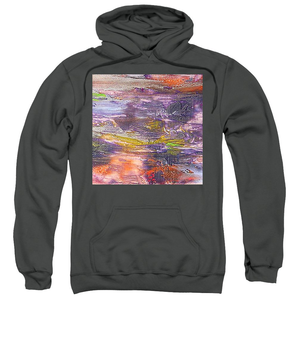Old Board Sweatshirt featuring the painting An Old Board by Dragica Micki Fortuna
