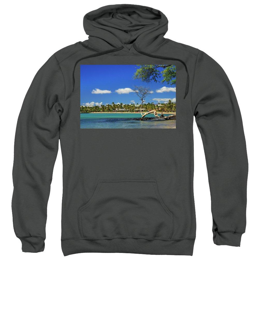 Bay Sweatshirt featuring the photograph Anaehoomalu Bay by James Eddy