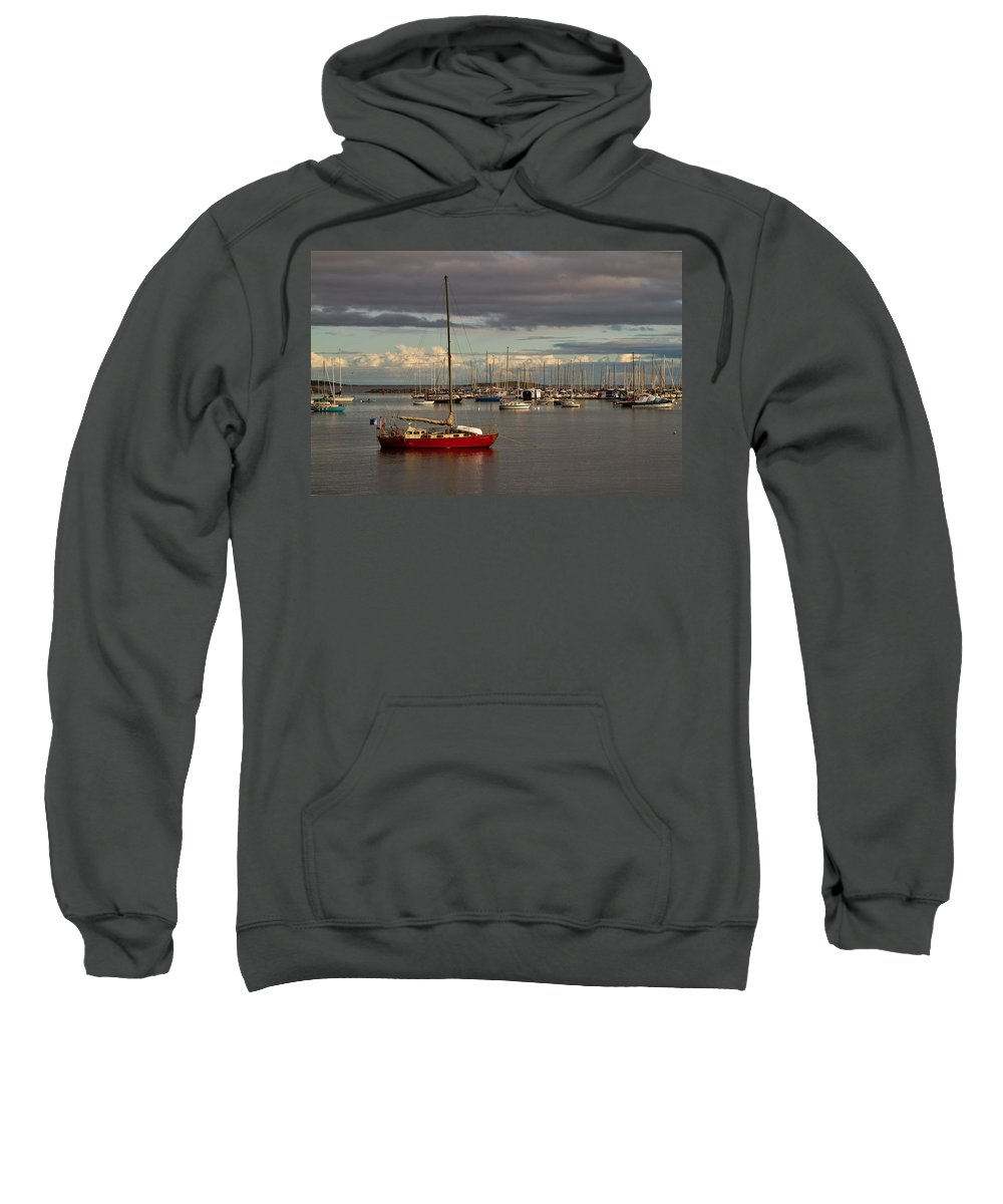 Boat Sweatshirt featuring the photograph Anchored by Louise Heusinkveld