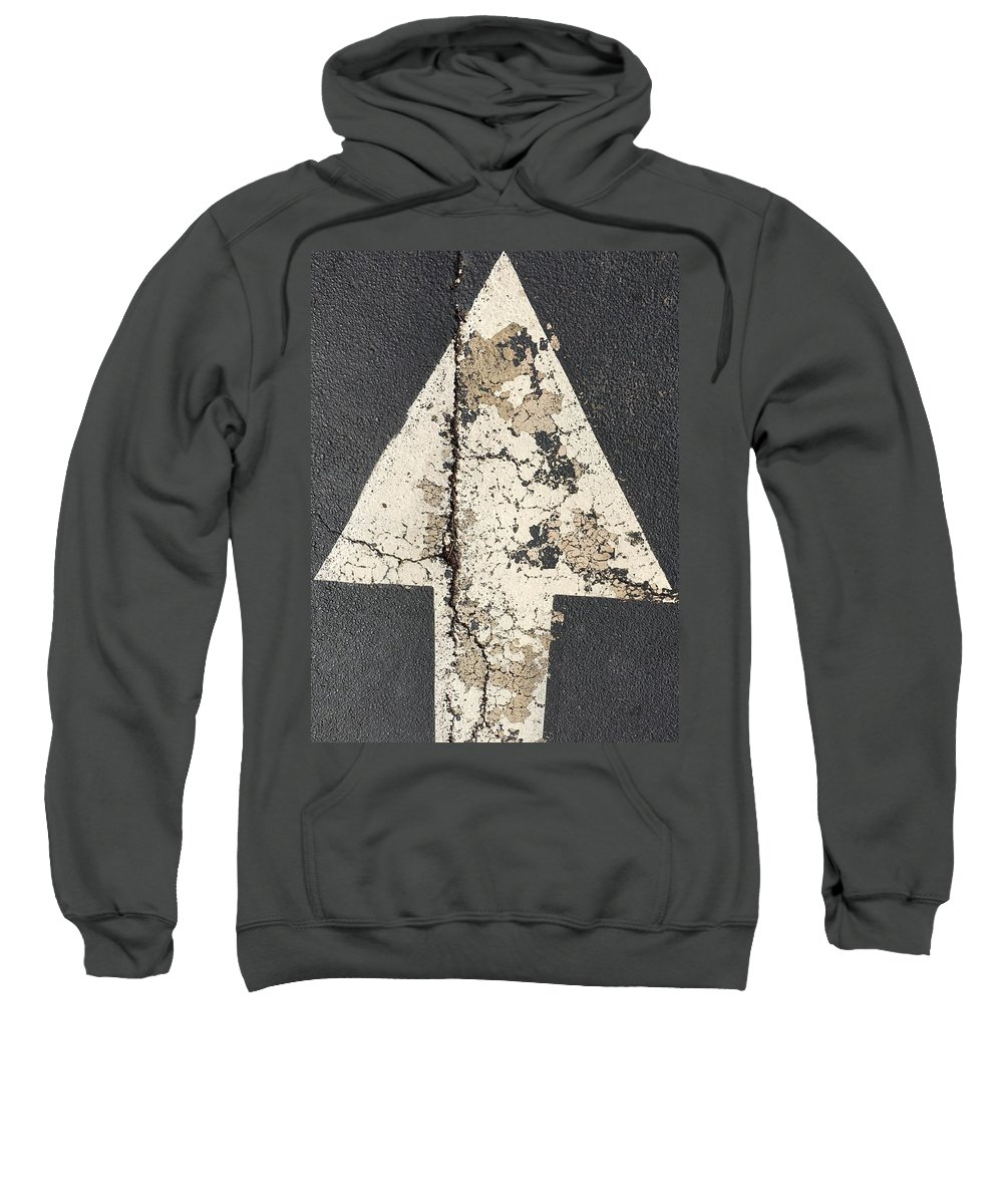 Street Art Sweatshirt featuring the photograph Ancient Arrow by Douglas Fromm