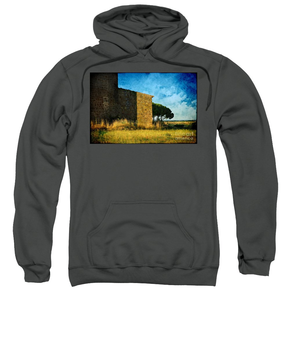 Ancient Sweatshirt featuring the photograph Ancient Church - Italy by Silvia Ganora