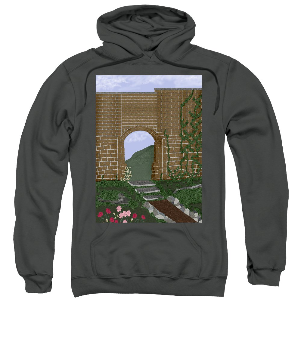Irish Ruins Sweatshirt featuring the painting Ancient Walls by Anne Norskog