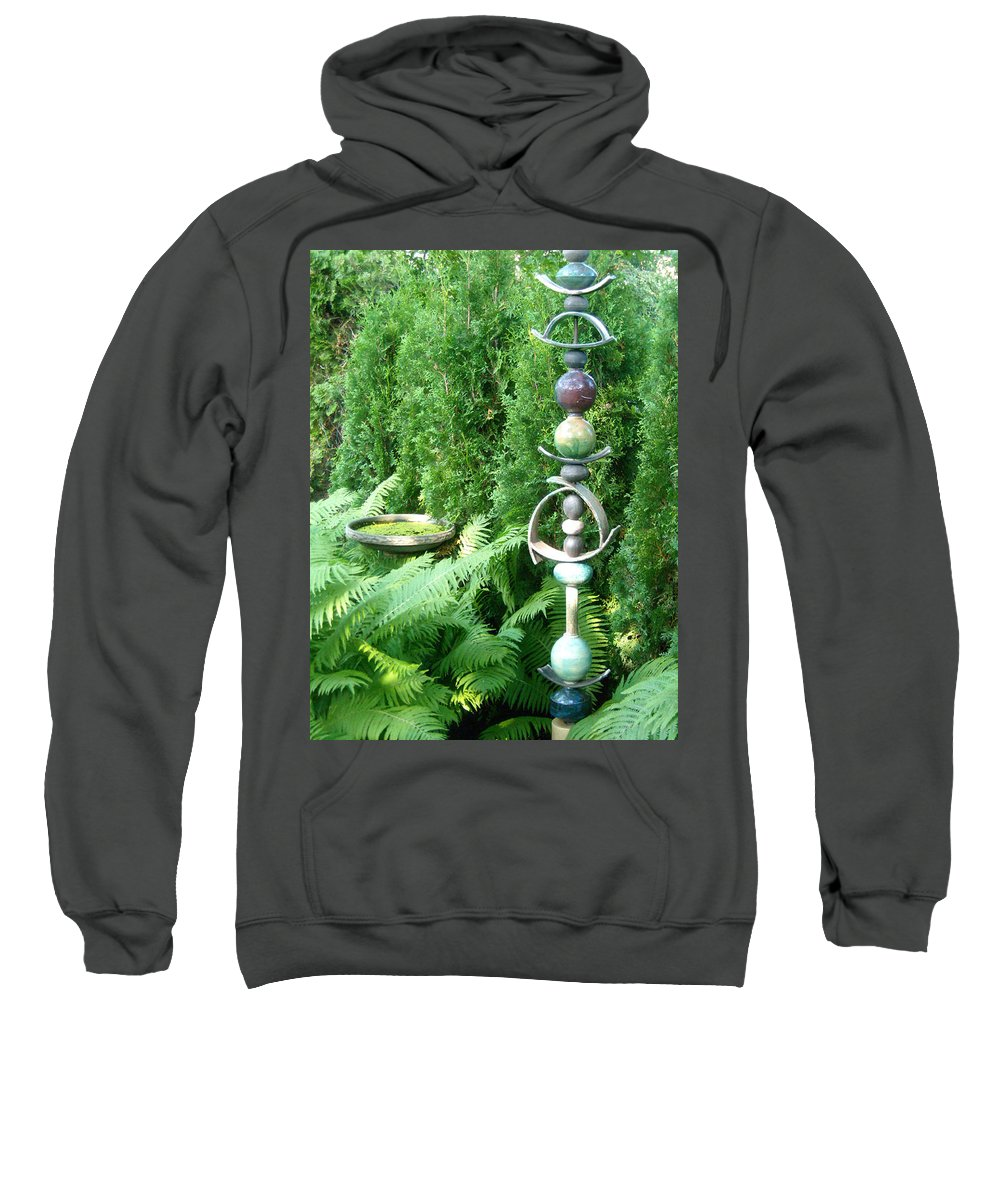 Sculpture Sweatshirt featuring the photograph And Sculpture Garden by Line Gagne