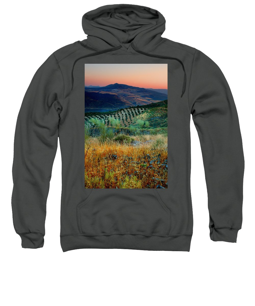 Andalucia Sweatshirt featuring the photograph Andalucian Landscape by Mal Bray