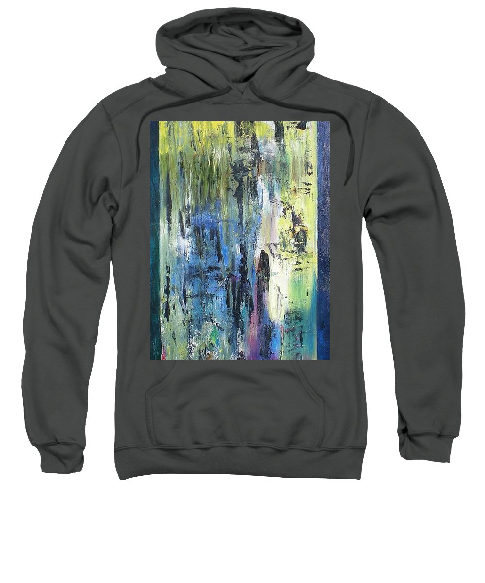 Abstract Sweatshirt featuring the painting Angel 1 by Hal Newhouser
