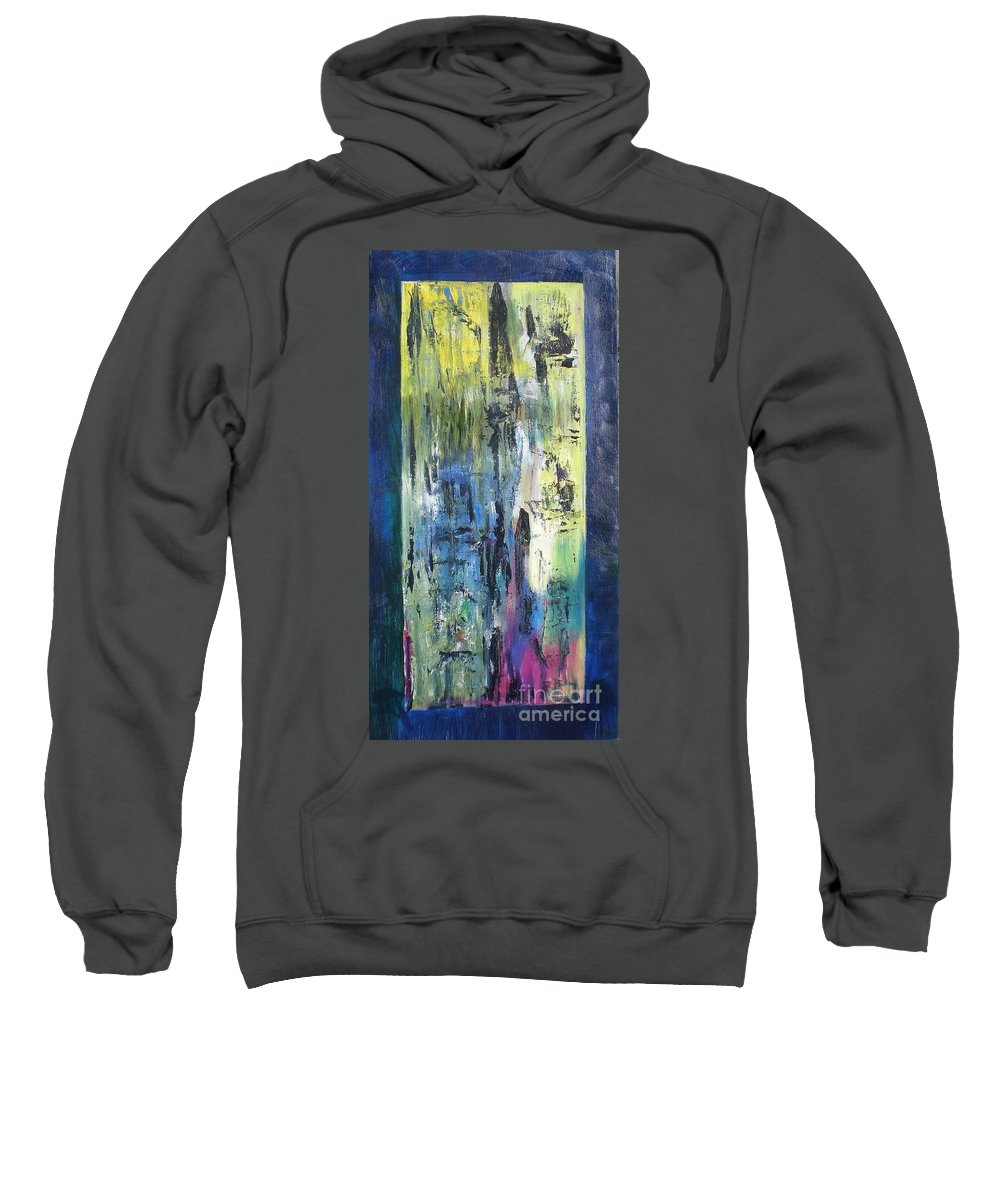 Even Angels Need A Friend Sweatshirt featuring the painting Angel 2 by Hal Newhouser