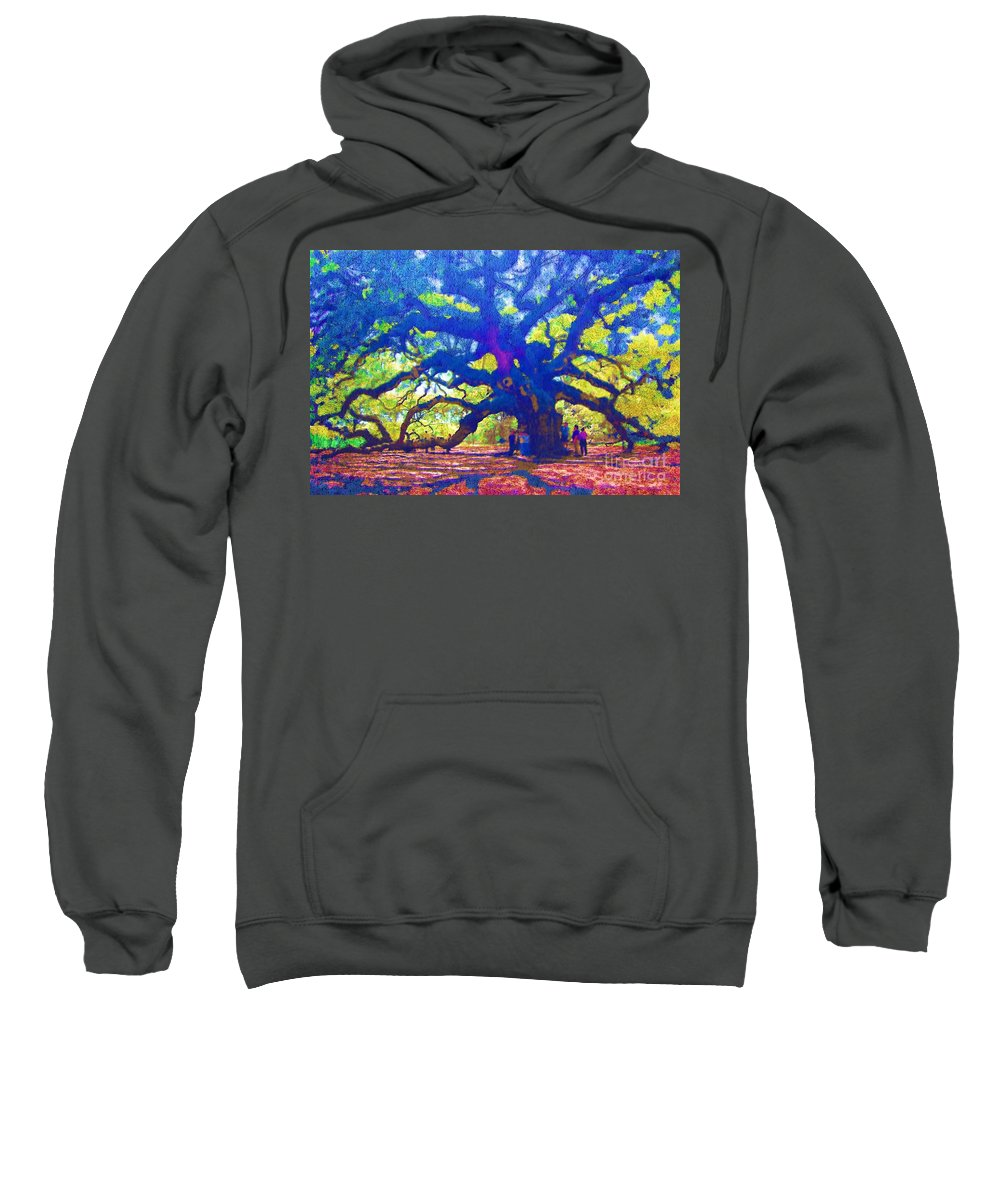 Tree Sweatshirt featuring the photograph Angel Oak Tree by Donna Bentley