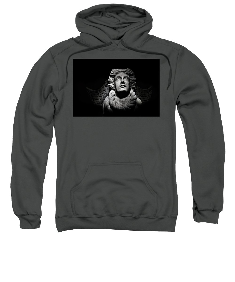 Sintra Sweatshirt featuring the photograph Angel On The Wall by Xavier Friesen