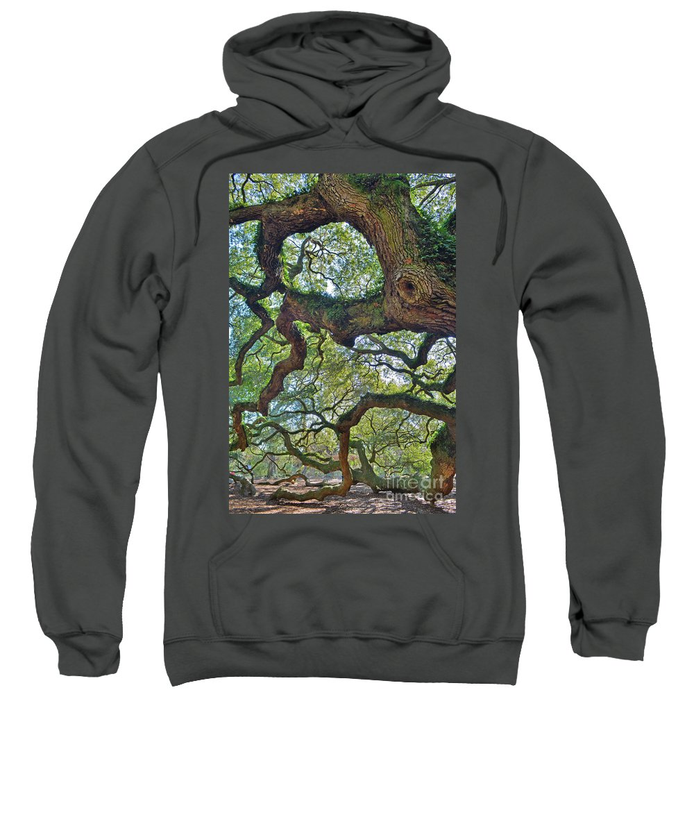 Angel Tree Sweatshirt featuring the photograph Angel Tree Abstract by Third Eye Perspectives Photographic Fine Art
