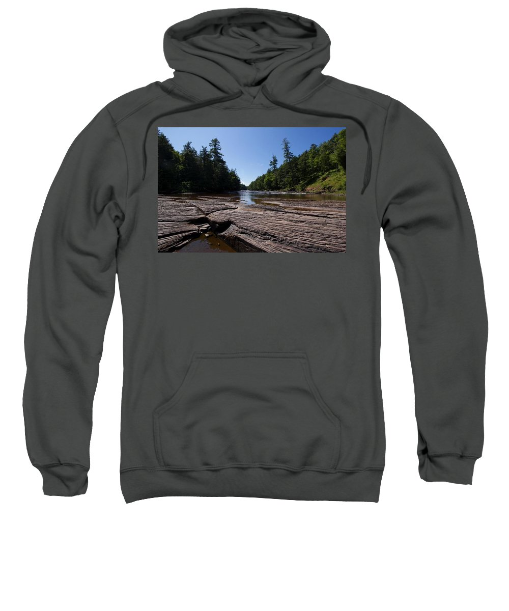 Waterfall Sweatshirt featuring the photograph Angles On The Isles by David Lyon