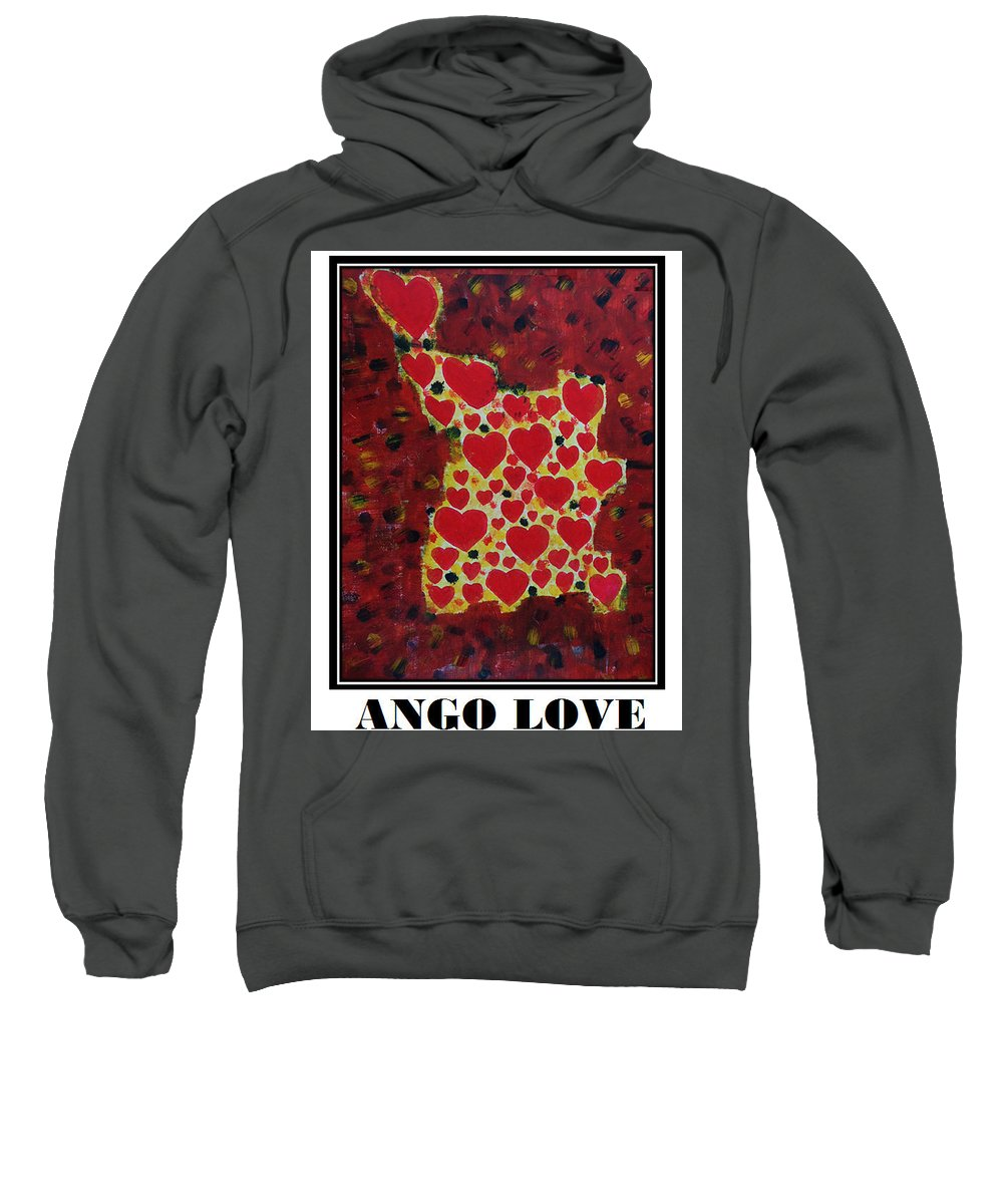 Agno Love Sweatshirt featuring the painting Ango Love by Antonia Pascoal
